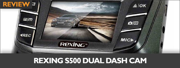 Rexing S500 Dual Dashboard Camera